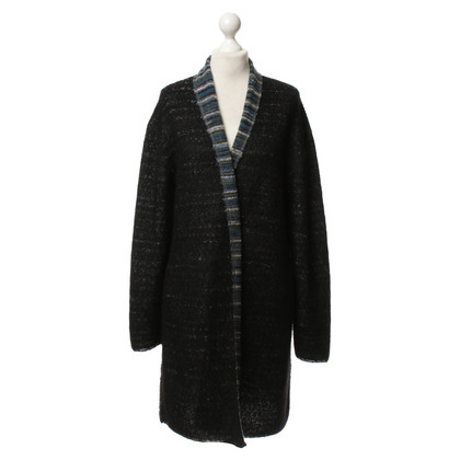 Marc Cain Long Cardigan in black/white