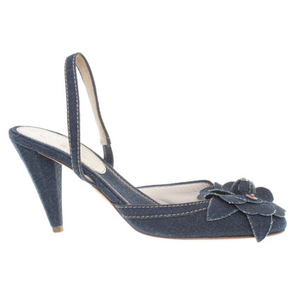 Chanel Slingback sandaal denim
