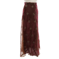 Nusco Maxi-skirt in Bordeaux