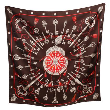 Hermès Zijden sjaal ,, Les Cles '' - patroon