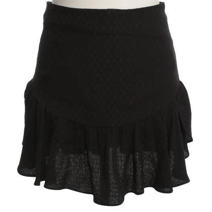 Sandro Volant skirt in black