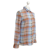 J. Crew Blouse with check pattern