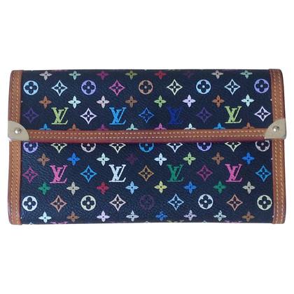 Louis Vuitton Portemonnaie aus Monogram Multicolore Noir