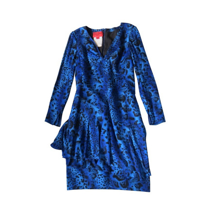 Emanuel Ungaro Elegant silk dress in Royal Blue