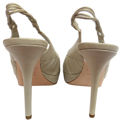 Christian Dior Peep-toes in beige leather
