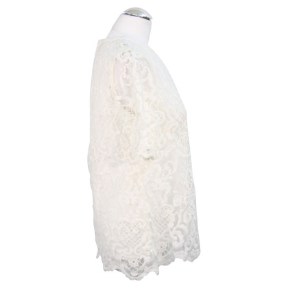 French Connection top with lace trim