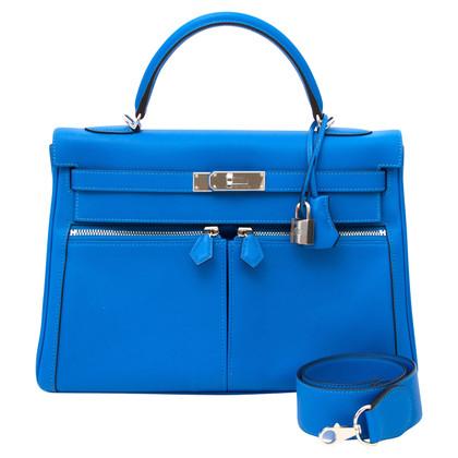 "Hermès ""Kelly Lakis 32 Swift Leather Bleu Hydra PHW"""