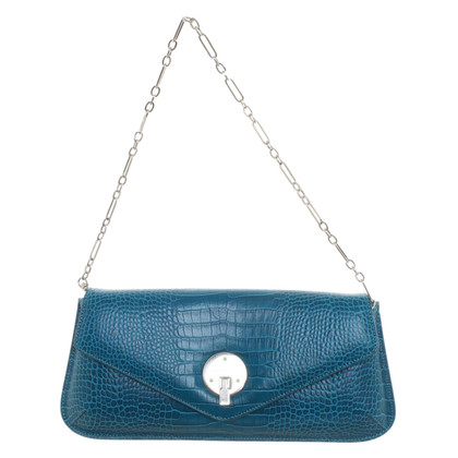 Smythson clutch in blu