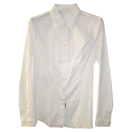 Prada White Popeline Stretch Shirt tg.42