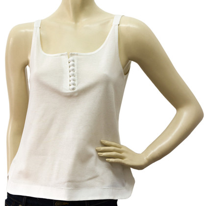 Chloé Tank Top Blouse Pique Cotton