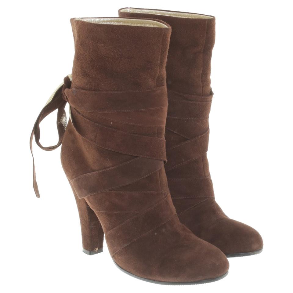 Marc Jacobs stivali di camoscio in marrone