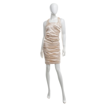 Elisabetta Franchi Silk dress in Nude