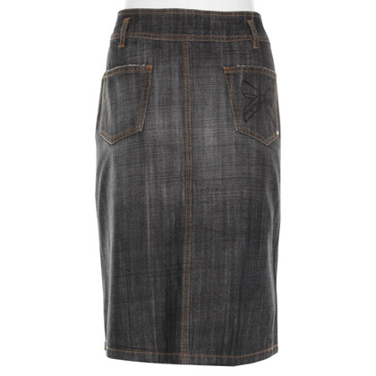 Rena Lange Black Denim Skirt