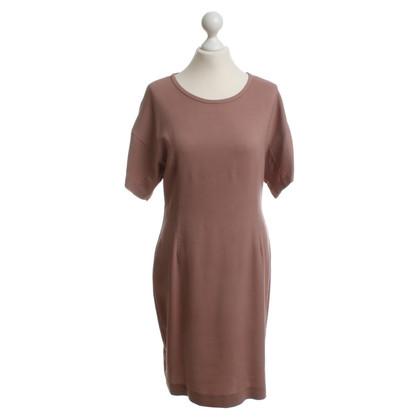 Set Kleid in dunklem Altrosa