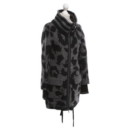 Marc Cain Coat in grey / black