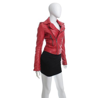 "Balenciaga Rote Biker-Leder-Jacke ""Perfecto"""