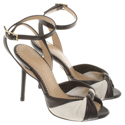 Charlotte Olympia Peep-toes in black and white