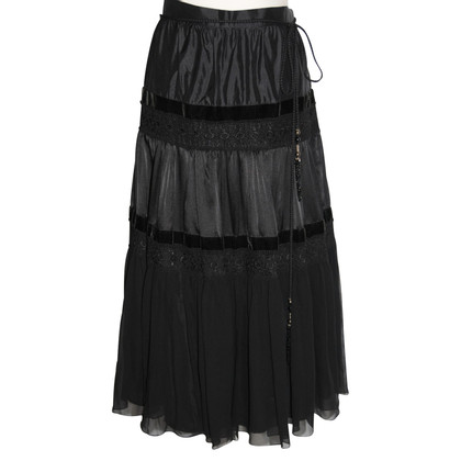 Max Mara Tiered skirt made of silk