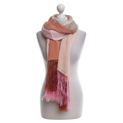 Valentino silk scarf with fringes