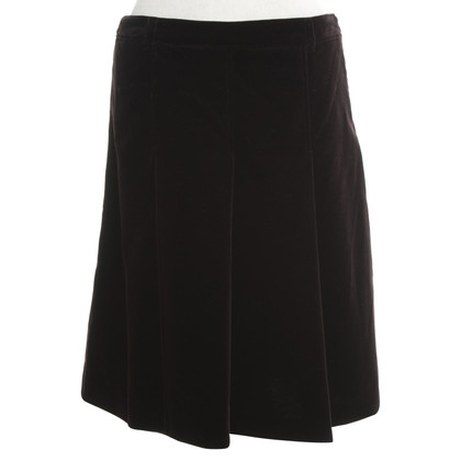 Miu Miu Velvet skirt in brown