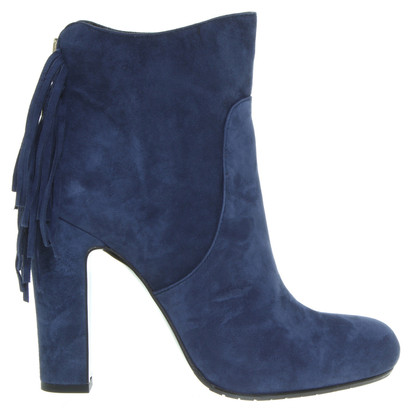 Aigner Fringed suede leather boots