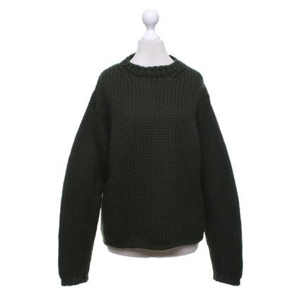 Jil Sander Sweater in olijfgroen