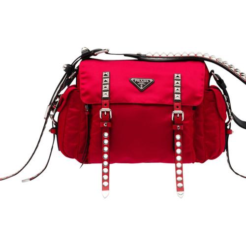 0d3ef59cb8c10 Prada Nylon bag with studs trim - Second Hand Prada Nylon bag with ...