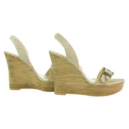 Christian Dior Wedges slangenhuid