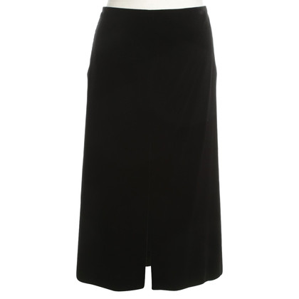 Jil Sander Velvet skirt in black