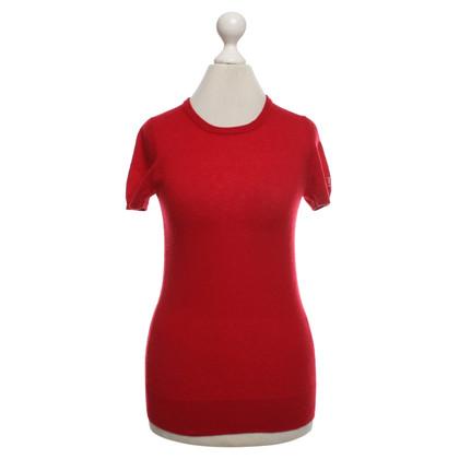 Tara Jarmon Short sleeve pullover in red