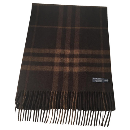 Burberry Brown checkered shawl