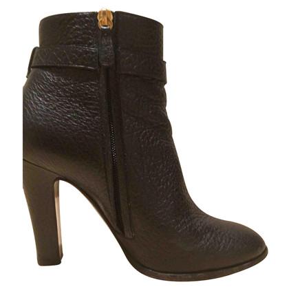 Moschino stivali di pelle nera