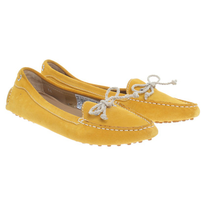 Car Shoe Pantofola in giallo