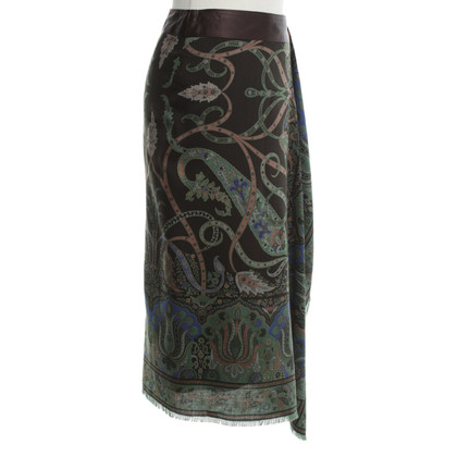 Etro Wrap skirt with pattern