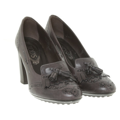 Tod's pumps in anthracite