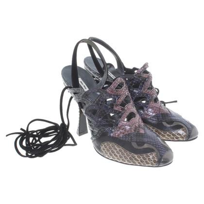 Miu Miu Hohe Sandalen aus Schlangenleder