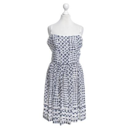 Edun zijden jurk met patroon