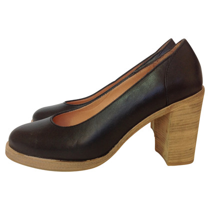 Swedish Hasbeens Black leather pumps Swedish Hasbeens