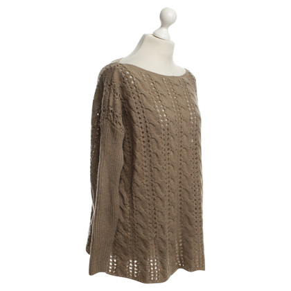 Twin-Set Simona Barbieri Oversize-Pullover in Khaki