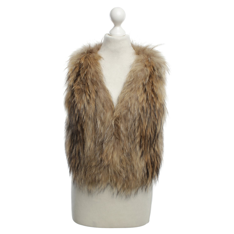 Yves Salomon  Fur coat in brown