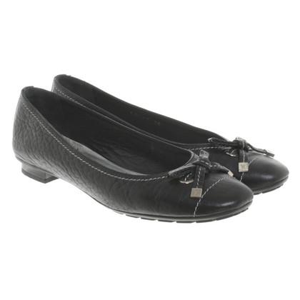 Louis Vuitton Ballerinas in black leather