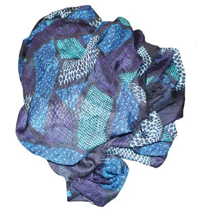 Burberry Sciarpa in modal blu