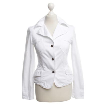Dolce & Gabbana giacca di cotone in bianco