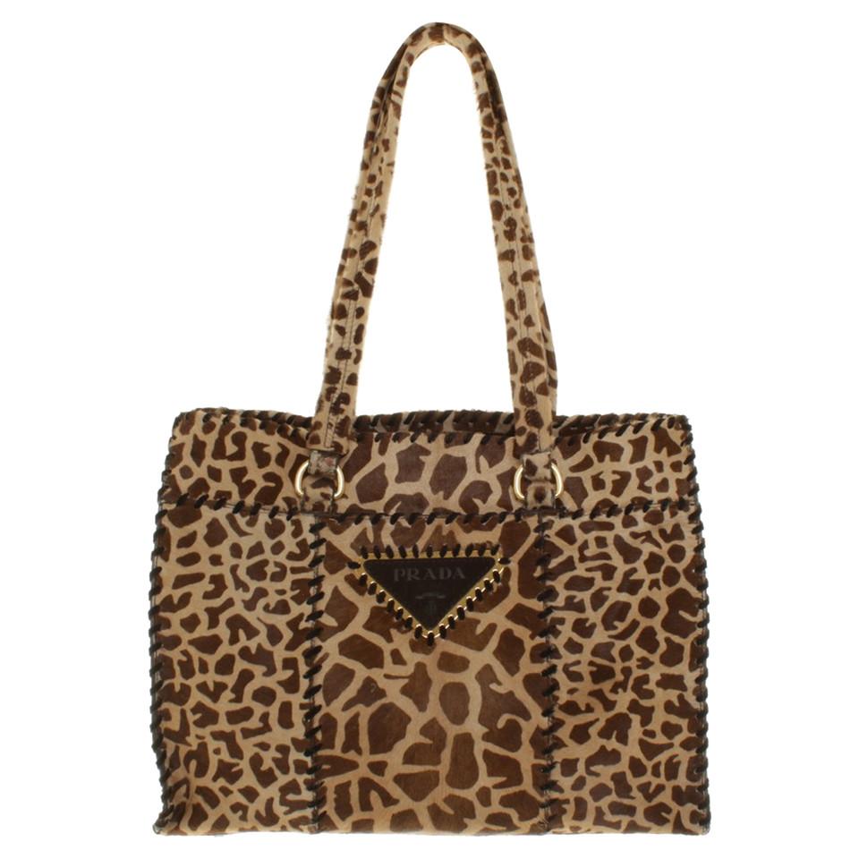 Tassen Patroon : Prada handtas met dierlijke patroon koop tweedehands