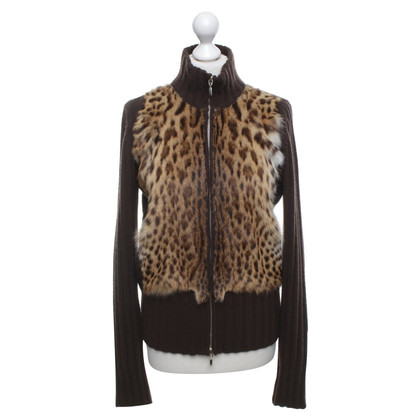 Bruno Manetti Cardigan with fur trim