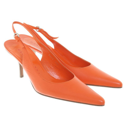 Walter Steiger Slingbacks in orange