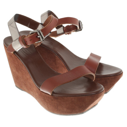 Acne Fox-gekleurde Wedges