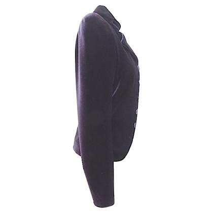 Giorgio Armani Fluwelen blazer uitgewerkt schouders
