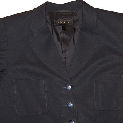 Escada Blazer in blue/black