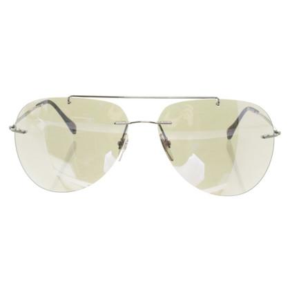 Prada Aviator zonnebril zilver/blauw